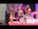 Camila Mendes and Madelaine Petsch have a fire side chat at Beauty Con in Los Angeles