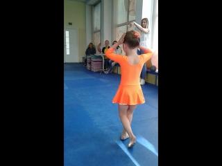 соревнование по худ.гимнастике,2 место заняла моя внученька