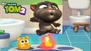 Мой Говорящий Том 2 Ухаживаем за питомцем Играем в миниигры НОВАЯ ИГРА про Говорящего Тома и Друзей