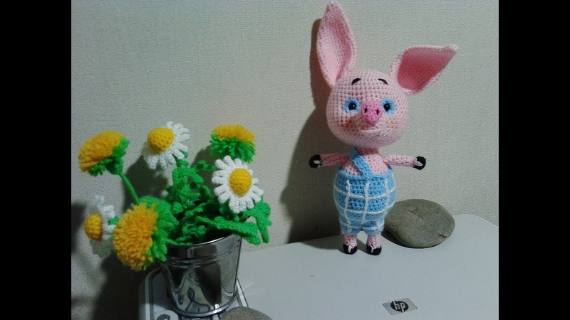 Пятачок из Винни пух, ч.2. Piglet from Winnie Pooh, р.2. Amigurumi.