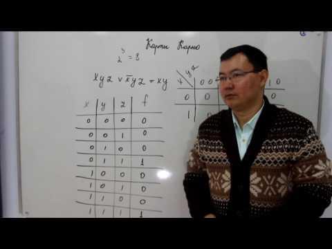 Минимизация логических выражений методом карты Карно