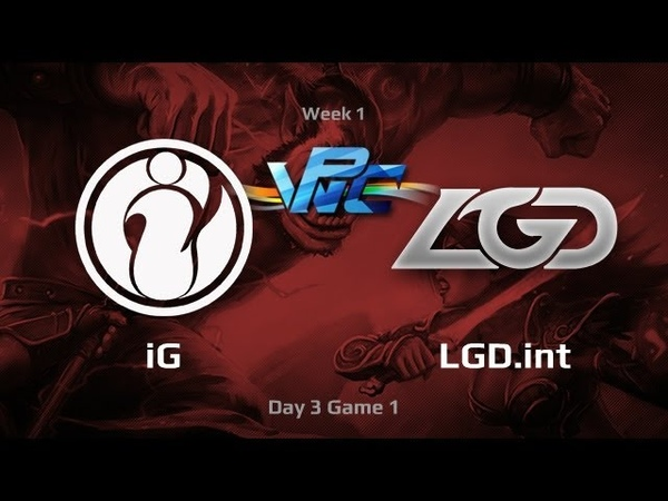 IG vs LGD.int, WPC-ACE League, Day 3, game 1