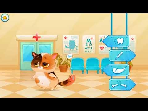 Игра Детей Забота о Любимом Забавном Котенке Bubbu Мой Виртуальный Питомец Играем Забавные Игр