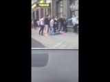 Пьяная драка. Кафе на 1-ой Тверской-Ямской в Москве 8.07.2018