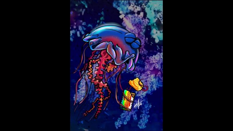 Медуза кушает печеньку