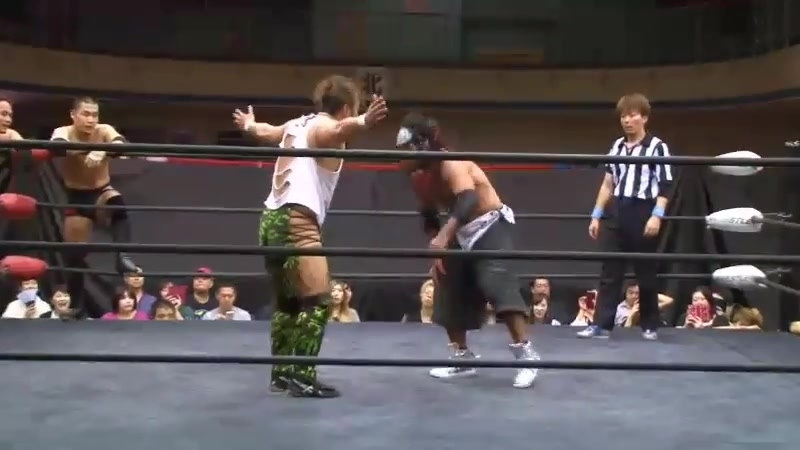 Hi69, Yuya Susumu, Fuminori Abe vs. 'brother YASSHI, Naoki Tanizaki, Takuya Sugawara (J-Stage 11th)