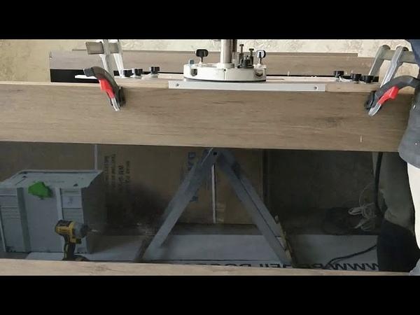 Врезка магнитного замка AGB шаблоном СтройПрофи