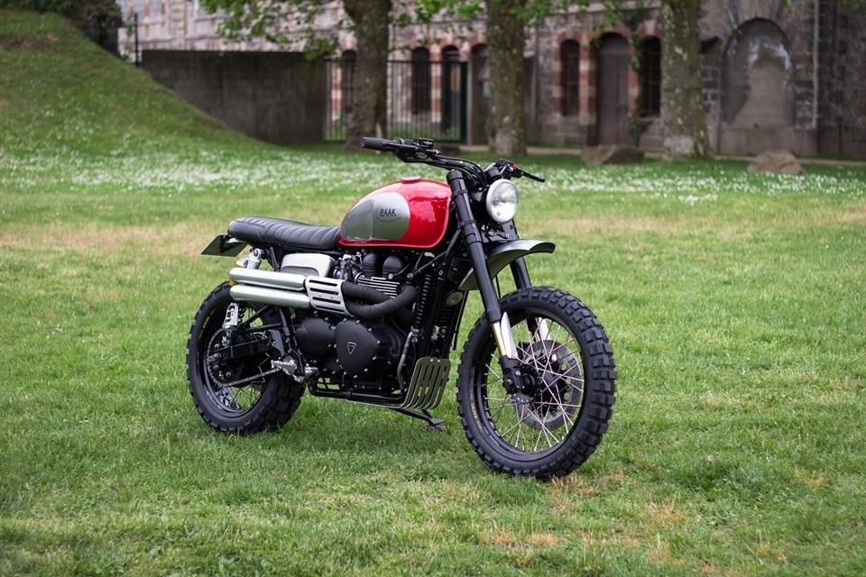 BAAK Motocyclettes: Triumph Scrambler - кастом отца для сына