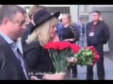 Алла Пугачёва, Максим Галкин и Кристина Орбакайте на похоронах Иосифа Кобзона (02.09.2018)