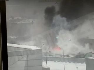 Пожар в гаражном кооперативе на юго-западе Москвы