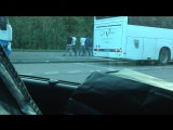 french bus stop and guys with naked ass