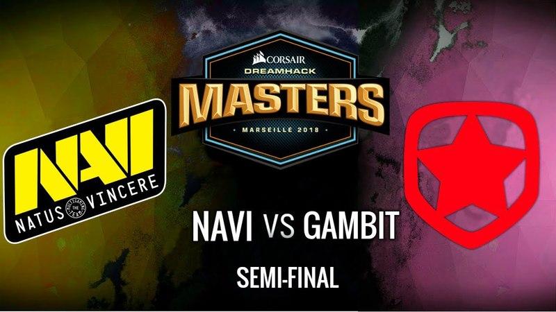 NaVi vs Gambit (Nuke/Map 1) - Highlights - DreamHack Masters Marseille 2018
