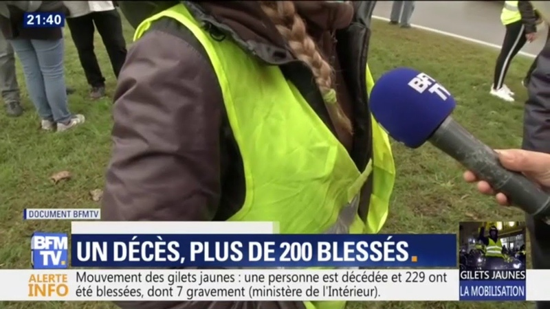 La fille de la manifestante tuée en Savoie réagit au micro de BFMTV