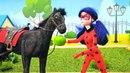Леди Баг и Суперкот — Игры для девочек — Лошадка и акума