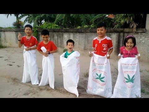 ABC trò chơi nhảy bao bố   trò chơi dân gian Việt Nam
