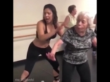 Бабуля учится танцевать хип-хоп