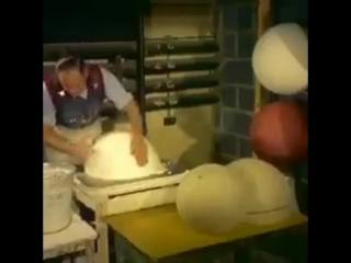 Как изготавливали глобусы в 1955 году