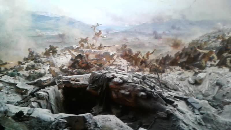 Диорама Штурм Сапун Горы 7 мая 1944 года Звуковая имитация