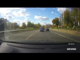 Driving through the streets of Izhevsk city