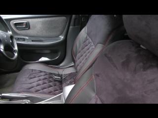 Авточехлы из экокожи для Тойота Карина ЕД. 3 поколение. Ромб . Установка авточехлов.