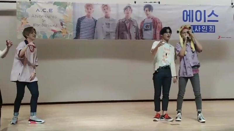 FANCAM | 17.06.18 | Byeongkwan, Donghun - DESSERT @ 4th fansign Incheon Media Center