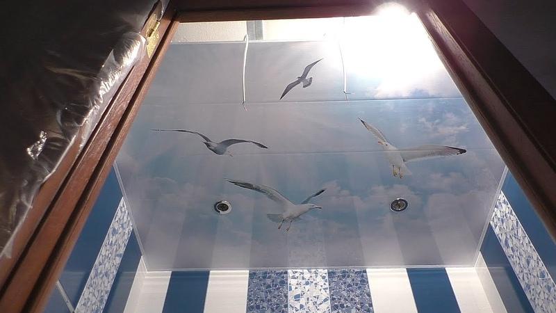 Ужасы отделки потолка в ванной панелями за 1800 р. Как сделать потолок своими руками без проблем!