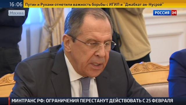 Новости на Россия 24 • Лавров: союзники США сомневаются в российско-американской инициативе о прекращении огня в Сирии