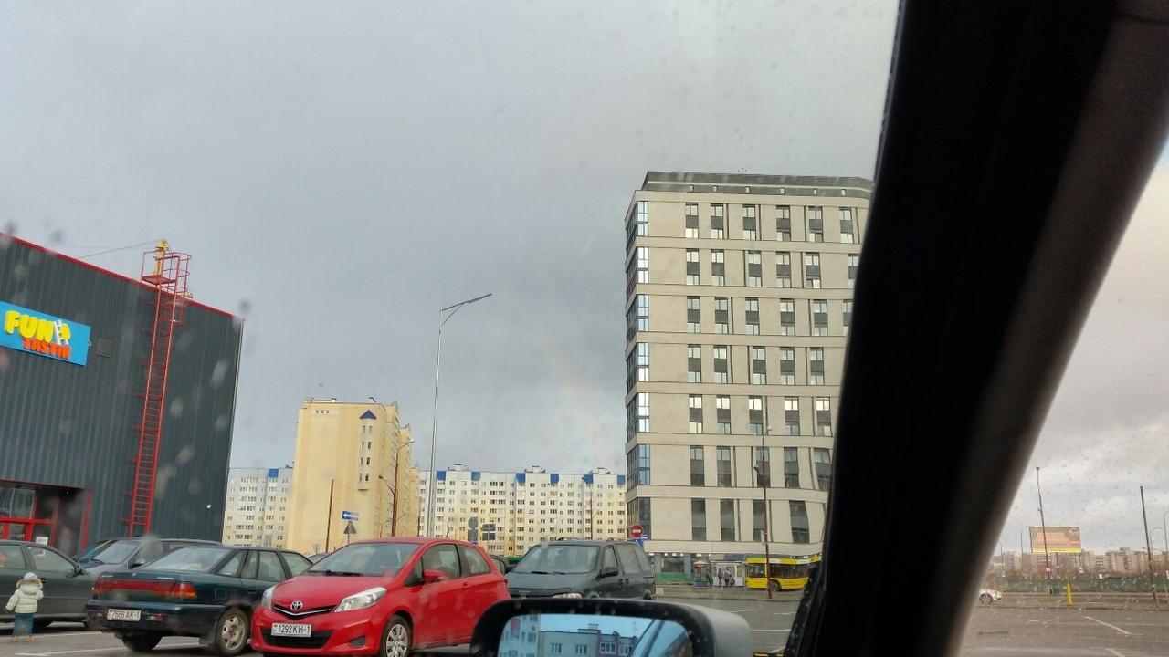 Радуга в Бресте появилась на небе 15 ноября