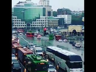 Центр города затопило после сегодняшнего дождя 20.06.2018