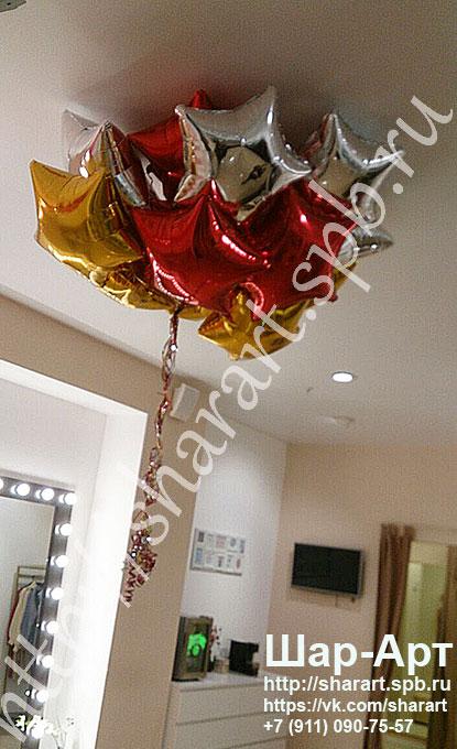 Оформление воздушными шарами на 23 февраля, а так же доставка шариков