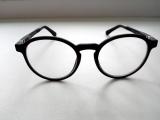 Детские круглые очки, матовая прорезиненная оправа, заушник на  180 градусов
