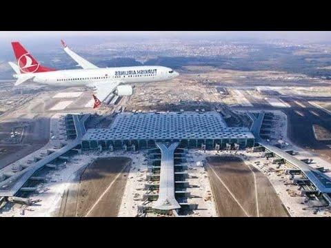 İstanbul Yeni Havalimanı Tarihi An İlk Uçuş İlk Sefer New Turkey istanbul Airport