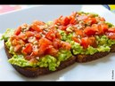 Healthy Breakfast Recipe Avocado Toast with Tomato and Basil Kusaka