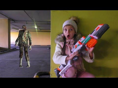 Играем в нерфы/NERF WAR Zombie Apocalypse НЕРФ ВОЙНА Зомби Апокалипсис