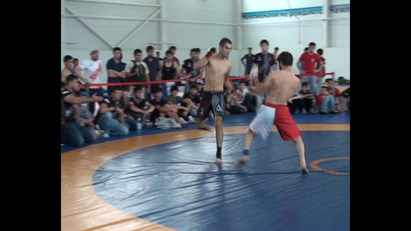 Хадзиев Адам против Галаева Мовсара на Всероссийском турнире по боевому самбо 25 августа 2018 года финал