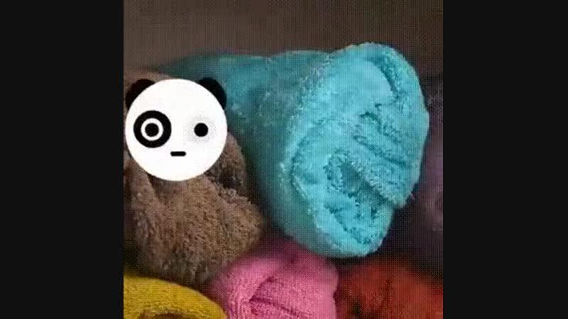 Как аккуратно сложить полотенца