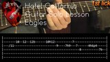 Hotel California Guitar Solo Lesson - Eagles (with tabs)