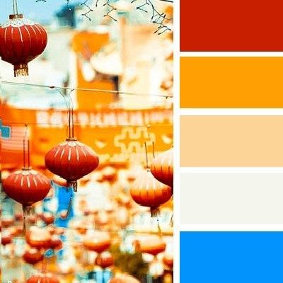 Цветовое сочетание.