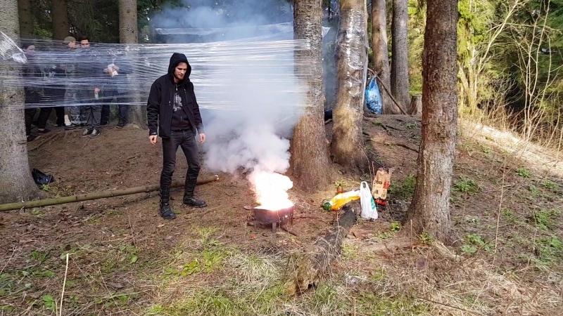 Сжигаем надпероксиды натрия и калия с углём в мангале