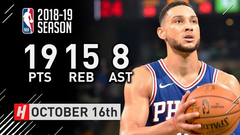 Ben Simmons Full Highlights vs Celtics 2018.10.16 - 19 Pts, 15 Reb, 8 Assists