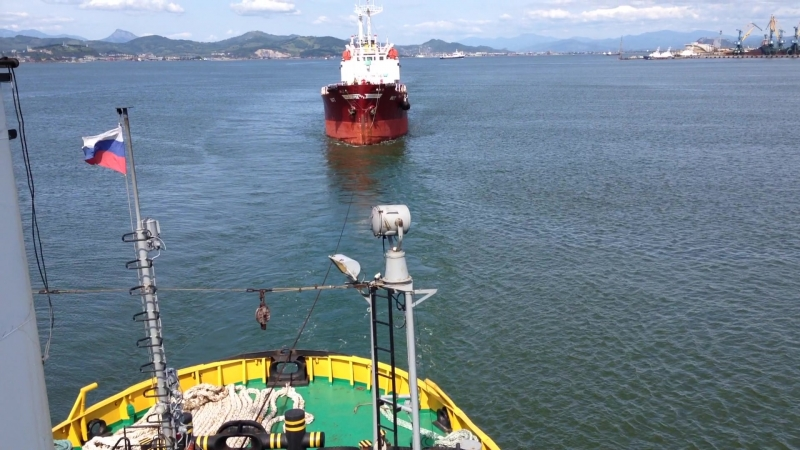 Towing a tanker