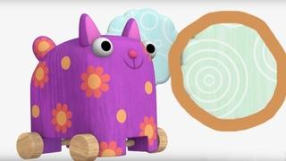 Деревяшки - Облака - Развивающие мультики для малышей - 37-я серия