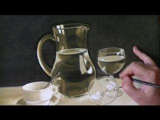 Bodegón al óleo - Blanco y negro. y un color más- nº 6