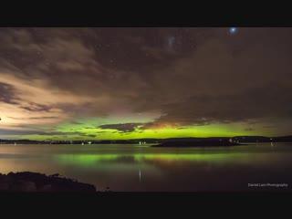 Южное полярное сияние над Тасманией