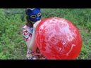 Blowing custom printed TufTex 18 in a forest (with close-ups from behind, no pop)