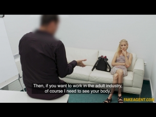 FakeAgent - Monique Woods - Cock stretches tight pussy on couch [New Porn 2018]