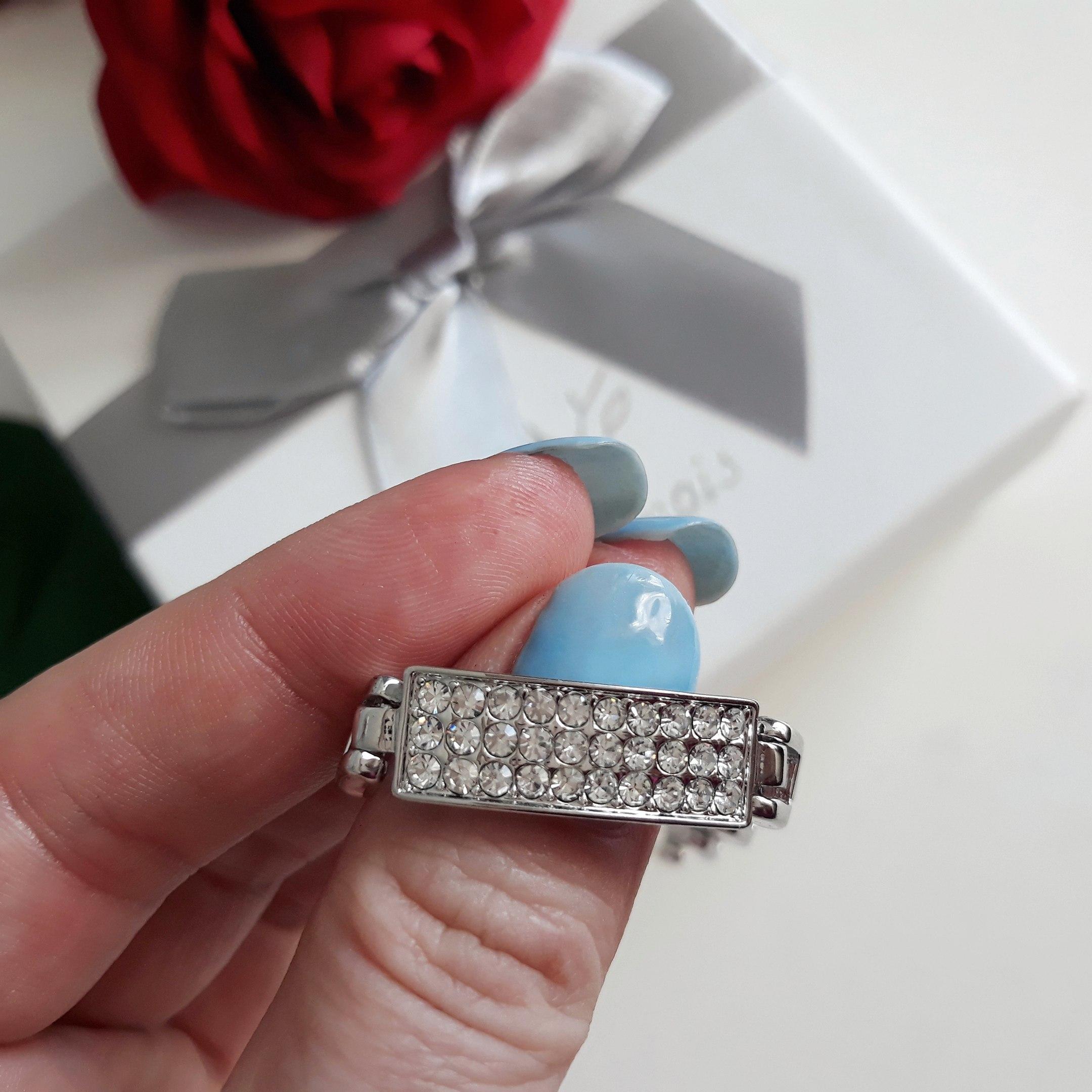 Изящный сверкающий браслет с австрийскими кристаллами