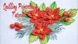 Quilling Poinsettia Flower Tutorial c