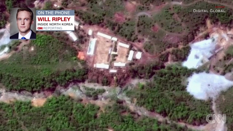 North Korea blows up nuclear site tunnels