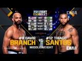 Fight Night Atlantic City: David Branch vs Thiago Santos